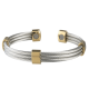 Trio Cable Stainless/Gold Magnetic #363