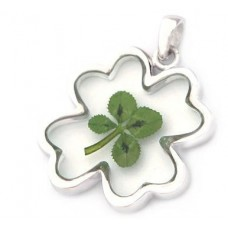 Pendant Clover in Clover (Made of Sterling Silver)